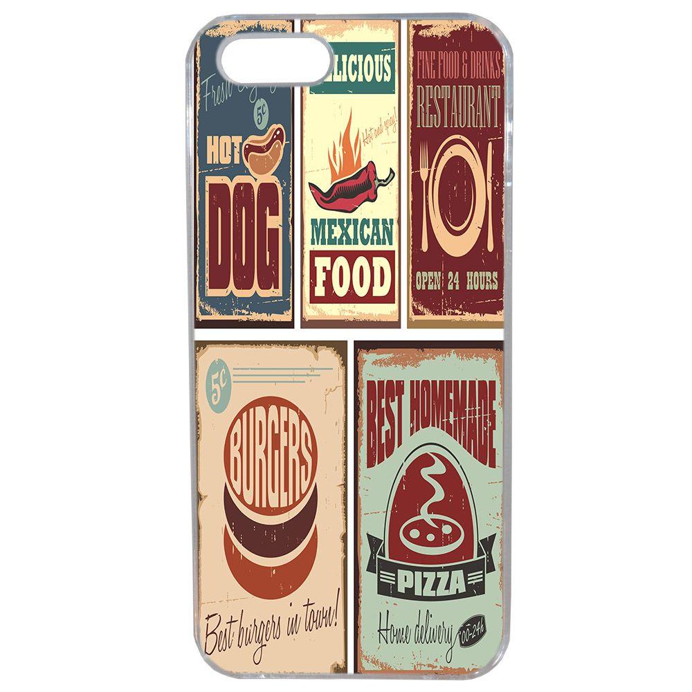 Lapinette - Coque Souple Pour Apple Iphone 5 - 5s Plaque Vintage Food