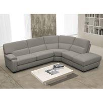 Canape angle cuir gris Bient´t les Soldes Canape angle cuir gris