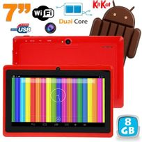 Tablette tactile Android 4.4 KitKat 7 pouces Dual Core 8 Go Rouge
