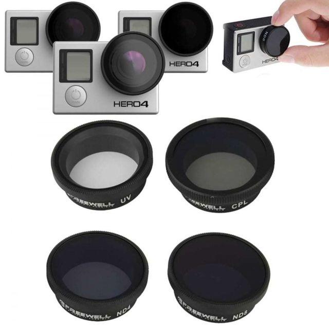 Gopro - Kit Filtre Photographique Uv Nd4 Nd8 Cpl pour Hero 4, 3 et 3 ... 19e3035b0970