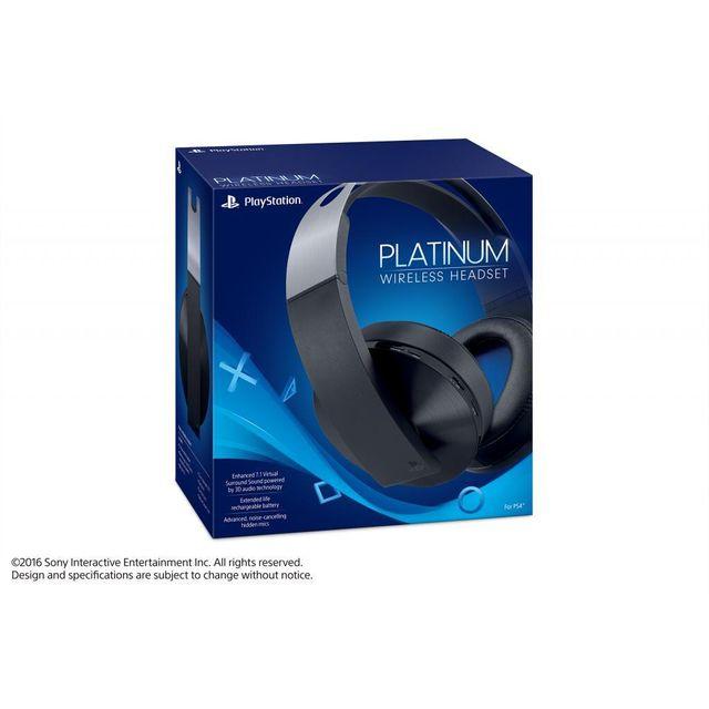 sony casque sans fil platinum ps4 pas cher achat. Black Bedroom Furniture Sets. Home Design Ideas