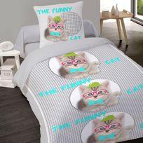 abfdf0b852a6fa housse couette chat - Achat housse couette chat pas cher - Rue du ...