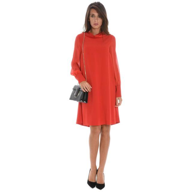 Botondi Milano Botondi Femme W150984 Rouge Viscose Robe