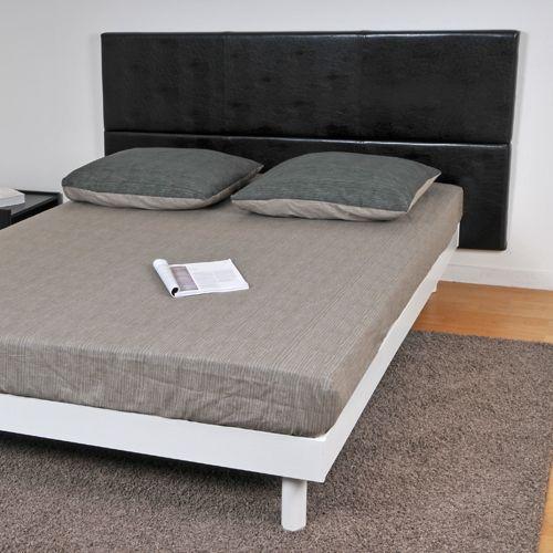 no name t te de lit 140 noir pas cher achat vente t tes de lit rueducommerce. Black Bedroom Furniture Sets. Home Design Ideas