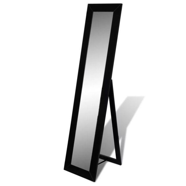 Vidaxl Miroir en pied noir