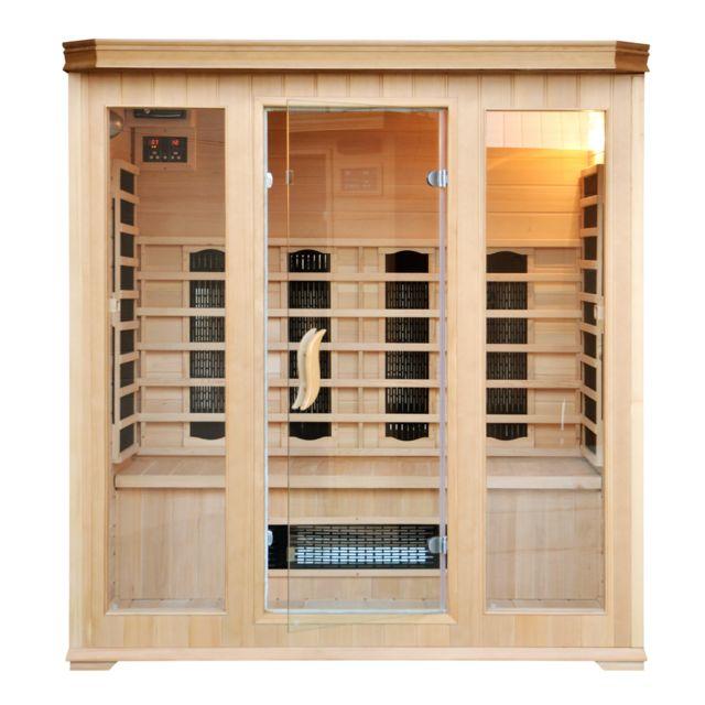 concept usine sauna infrarouge luxe 4 5 personnes chromoth rapie radio cd inclus pas. Black Bedroom Furniture Sets. Home Design Ideas