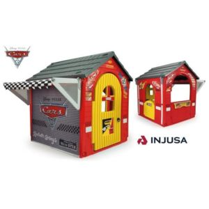 injusa maison cabane d 39 xt rieur pour enfant cars 3 garage pas cher achat vente. Black Bedroom Furniture Sets. Home Design Ideas