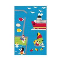 Allotapis - Tapis multicolore pour chambre d'enfant Island