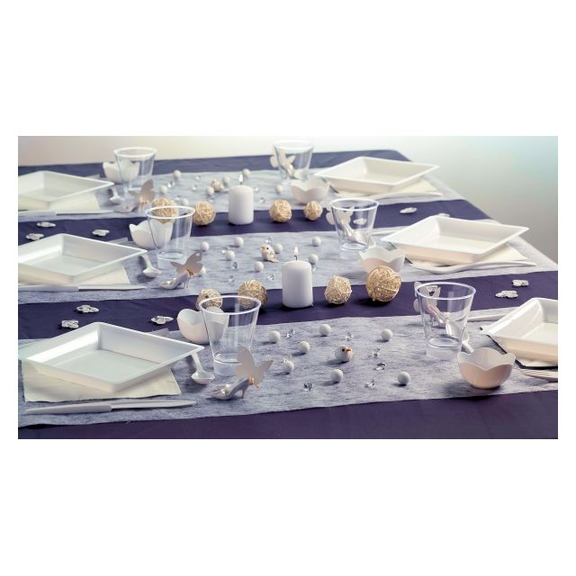 no name kit de d coration de table complet chemin de table bougies serviettes d corations. Black Bedroom Furniture Sets. Home Design Ideas
