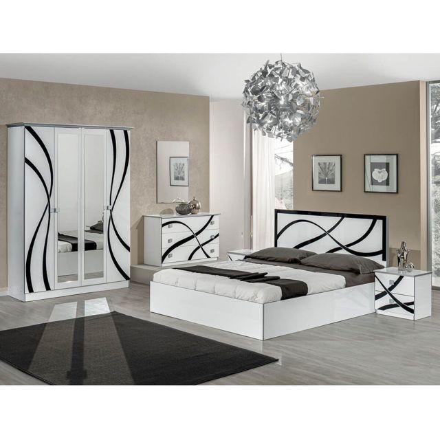 Altobuy Sylla - Chambre Complète avec Lit 160x200cm