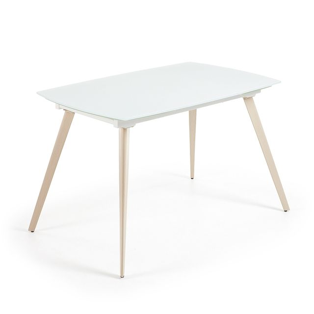 Kavehome Table extensible Smoth, 140 cm blanc