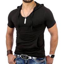 Tazzio - Tee shirt à capuche T-shirt Tz5053 noir