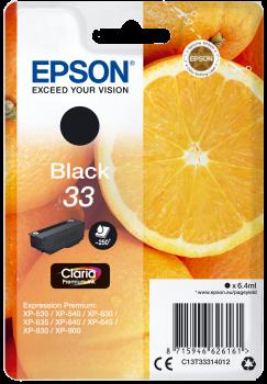 EPSON Cartouche d'encre Oranges Claria Home 33 - Noire