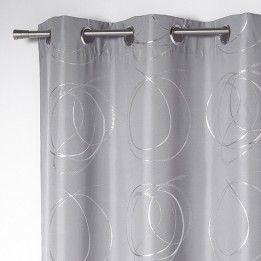 marque generique rideau 140 x h260 cm bully gris perle pas cher achat vente rideaux. Black Bedroom Furniture Sets. Home Design Ideas