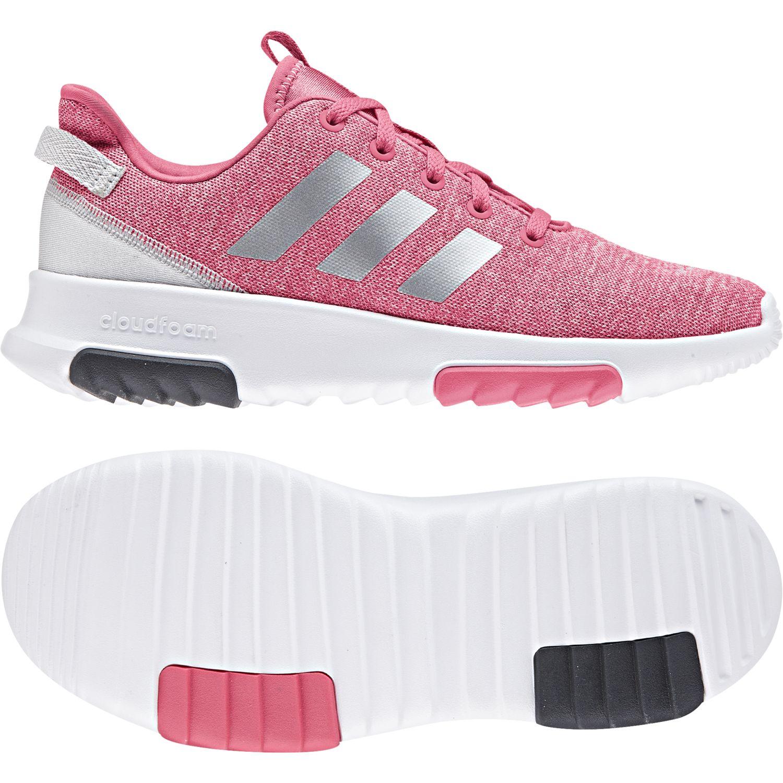 Adidas - Chaussures Cloudfoam Racer Tr rose intense/argent/blanc - pas cher Achat / Vente Chaussures running