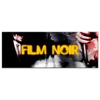 Declina - Tableau panoramique style vintage film noir sur toile imprimée