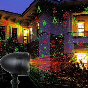 Touslescadeaux projecteur laser ext rieur no l projecteur de fa ade 8 motifs de no l rose - Laser facade noel ...