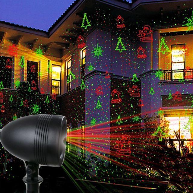 touslescadeaux projecteur laser ext rieur no l projecteur de fa ade 8 motifs de no l pas