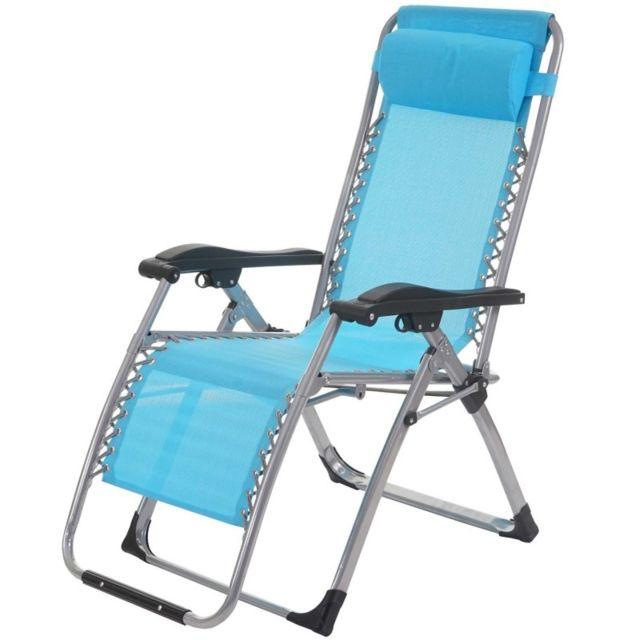 Chaise Longue De Jardin Pliante decoshop26 - transat bain de soleil chaise longue jardin pliable