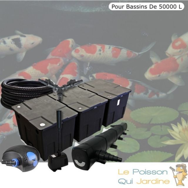 Le Poisson Qui Jardine Kit filtration complet 72W + fontaine pour bassins de 50000 litres