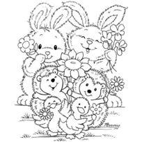 Stampavie - Tampon Transparent-fleurs Des Amis