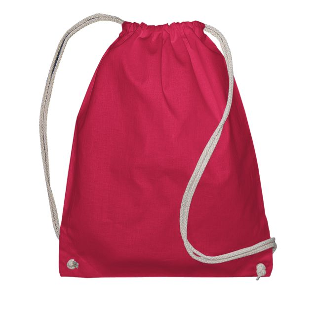 Jassz Bags Sac de gym avec cordon de serrage Lot de 2, Taille unique, Rouge Utbc4328