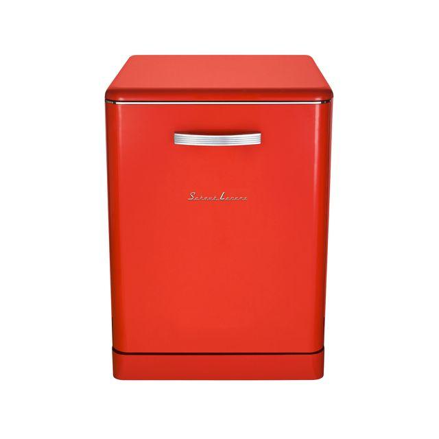Schaub Lorenz Sl14DWR Lave-vaisselle pose libre Vintage 14 couverts - 47 dB - départ différé 3/6/9/12h - coloris rouge - A++/A/A