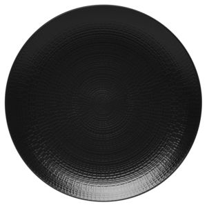 guy degrenne lot de 6 assiette plate ronde 28 cm modulo nature noir pas cher achat vente. Black Bedroom Furniture Sets. Home Design Ideas