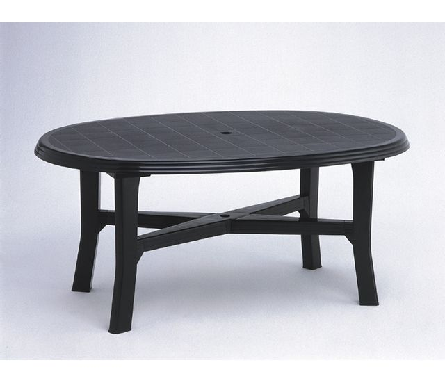Lebrun Table ovale 165 X 110 cm anthracite Load