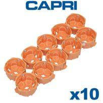 Capri - Pack de 10 Boîte d'encastrement simple Capriclips D67 Prof40