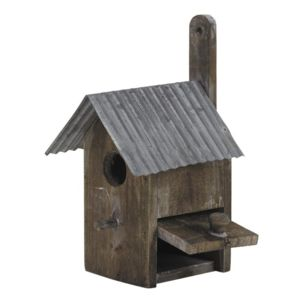aubry gaspard nichoir en bois et zinc pas cher achat vente nichoir pour oiseaux du ciel. Black Bedroom Furniture Sets. Home Design Ideas