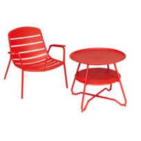 table de jardin rouge - Achat table de jardin rouge pas cher - Rue ...