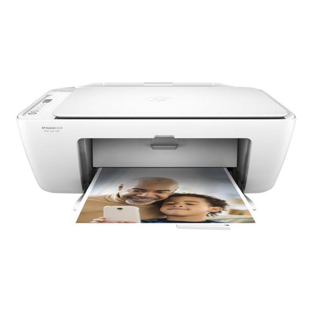 HP - Imprimante multifonctions 4 en 1 Deskjet 2620 - Blanc
