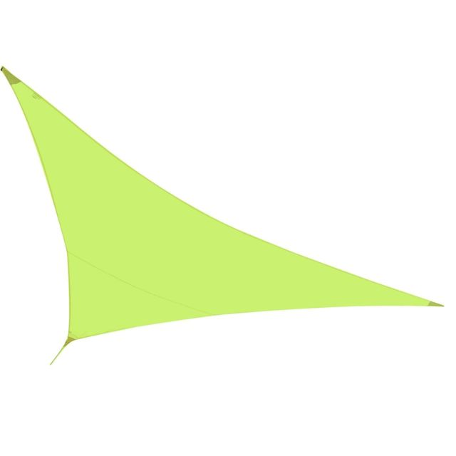 Helloshop26 Voile toile d'ombrage taud de soleil vert anis 5 x 5 mètres parasol solaire 2217006