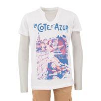 Best Mountain - T-shirt blanc garçon CÔTE D'AZUR