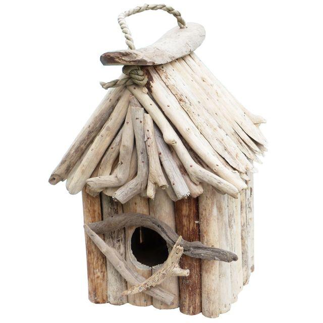 T te de lit en bois flott 180 river vendu par for Oiseau en bois flotte