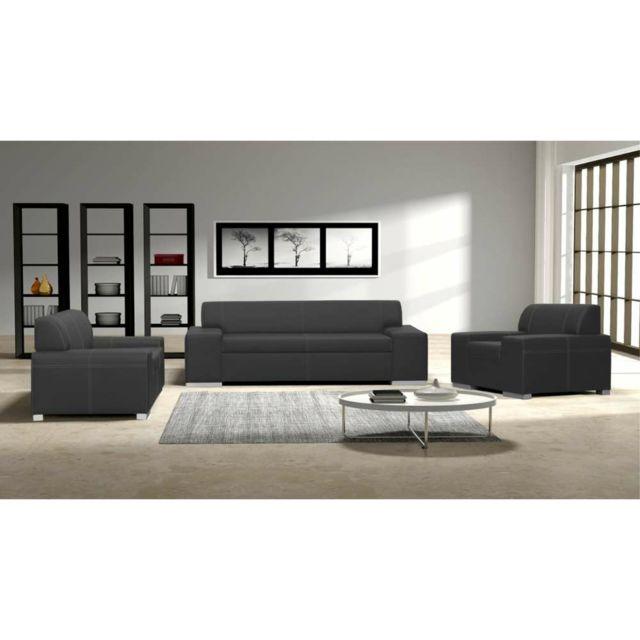 Justyou - Toscania Ensemble meubles de salon Gris - pas cher Achat ...