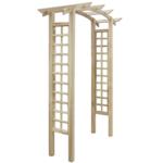 Vidaxl - Arche de jardin en bois avec treillis 150 x 50 220 cm