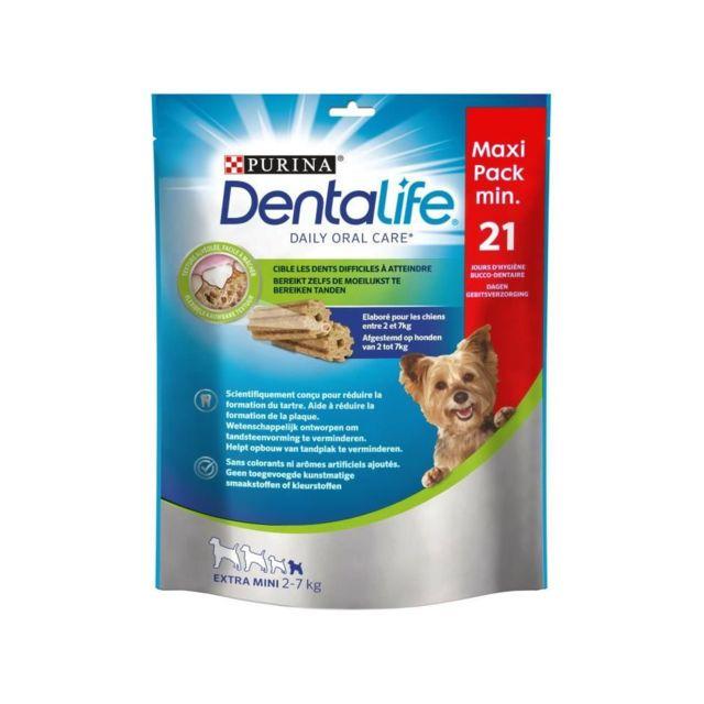 Dentalife Purina Extra Mini Bâtonnets a mâcher - Hygiene bucco-dentaire - Pour chien de tres petite taille - 207 g