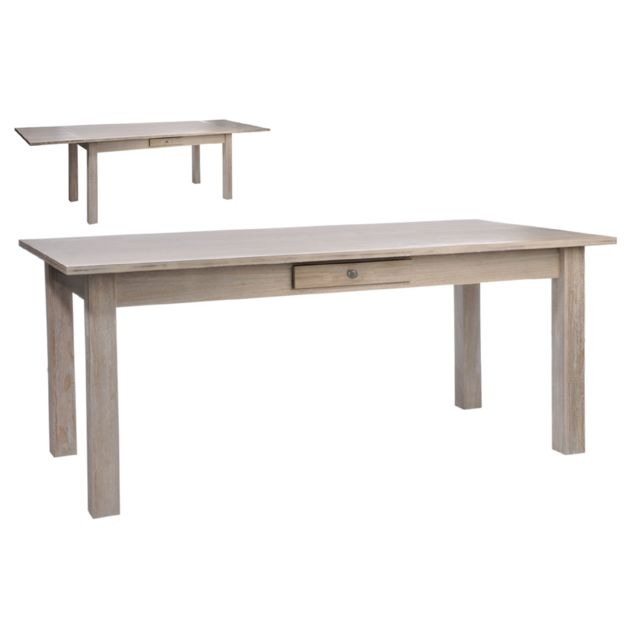 HELLIN TABLE RECTANGULAIRE A RALLONGES