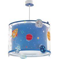 Aucune - Lustre suspension chambre enfant Planets - Bleu