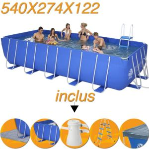 Jilong piscine tubulaire hors sol 540 x 274 x 122cm for Aspirateur piscine hors sol jilong