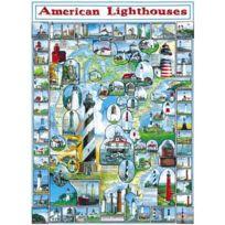 White Mountain Puzzles - Puzzle 1000 pièces - Phares américains