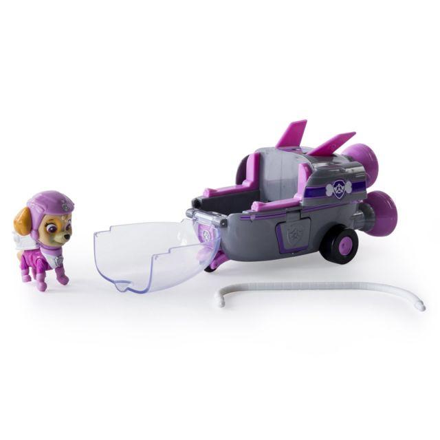 Spin Master - Véhicule avec figurine Pat'Patrouille PAW Patrol, : Fusée et Stella