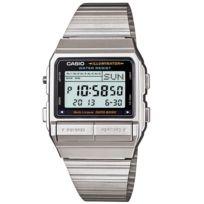 Casio - Db-380-1A Nouveaute Montre Vintage - Telememo 30 - 5 Alarmes - Chrono- Quartz Digitale - Bracelet Acier