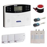 EMATRONIC - Alarme kit mixte sans-fil et filaire avec transmetteur Gsm Al01 - Pour 3 ou 4 pièces