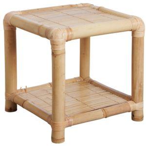 Aubry gaspard table de nuit en bambou multicolore pas - Table de chevet en bambou ...