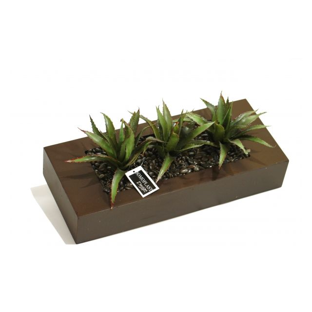 somoplast tableau v g tal poser ou fixer au mur yucca artificiel cadre bois cr ation. Black Bedroom Furniture Sets. Home Design Ideas