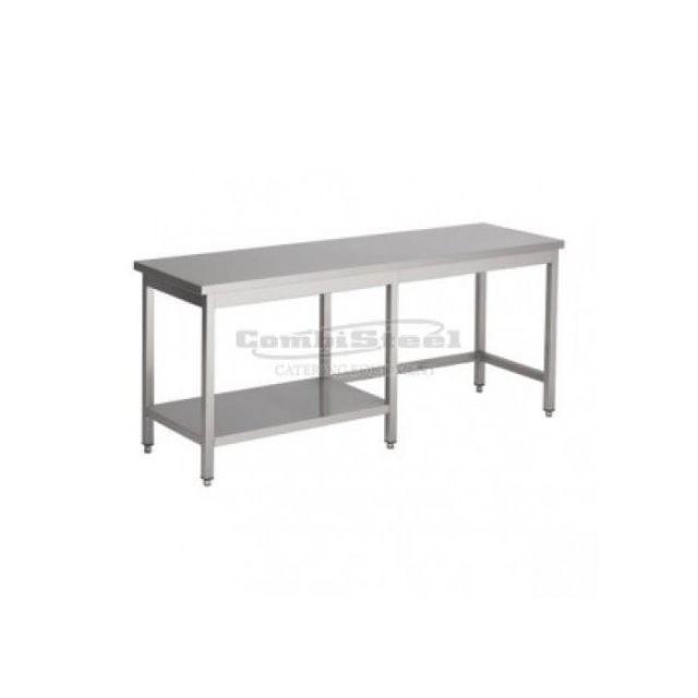 Combisteel Table Inox Pro Avec Demi Etagère - Gamme 800 inox 1900x800 800