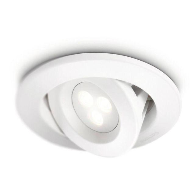 Philips Carnet - Spot encastrable Led de salle de bain Blanc Ø12cm